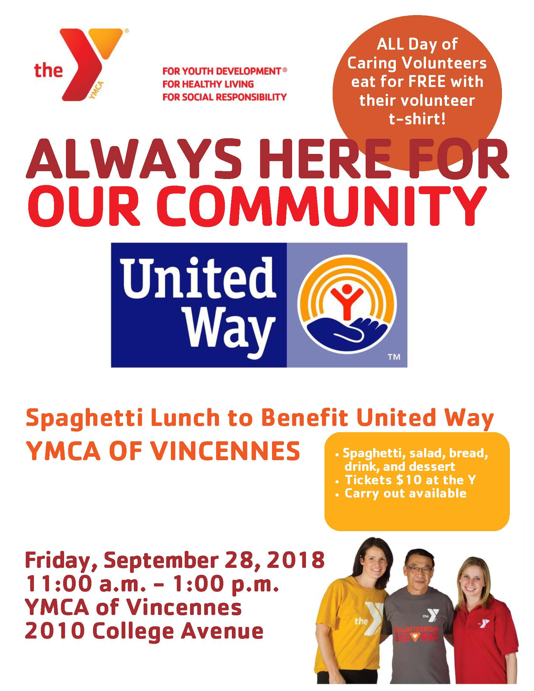 Spaghetti Lunch Flyer